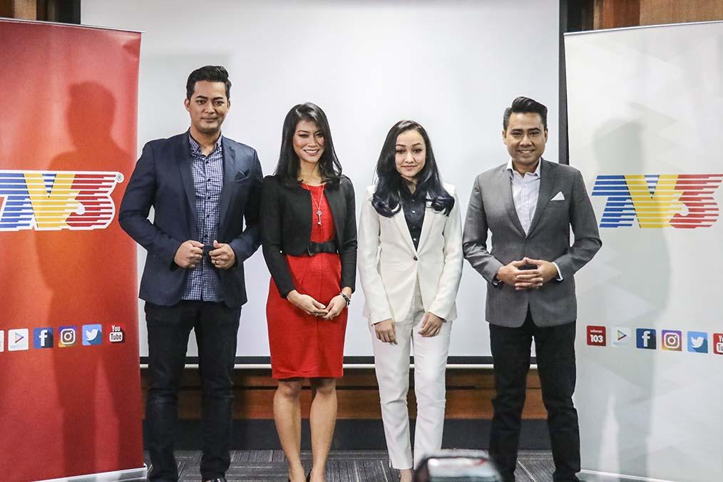 Buletin Utama Pembaca Berita Nik Munirah, Fatin Hamimah, Ramzan Mohd Saufi, dan Naquia Basharudin.